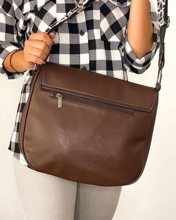 Τσάντα ώμου χιαστί ταχυδρόμου καφέ - WL77316 α